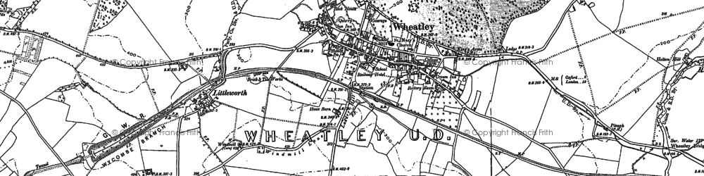 Old map of Wheatley in 1897