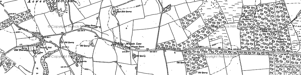 Old map of Wheatley Hill in 1896