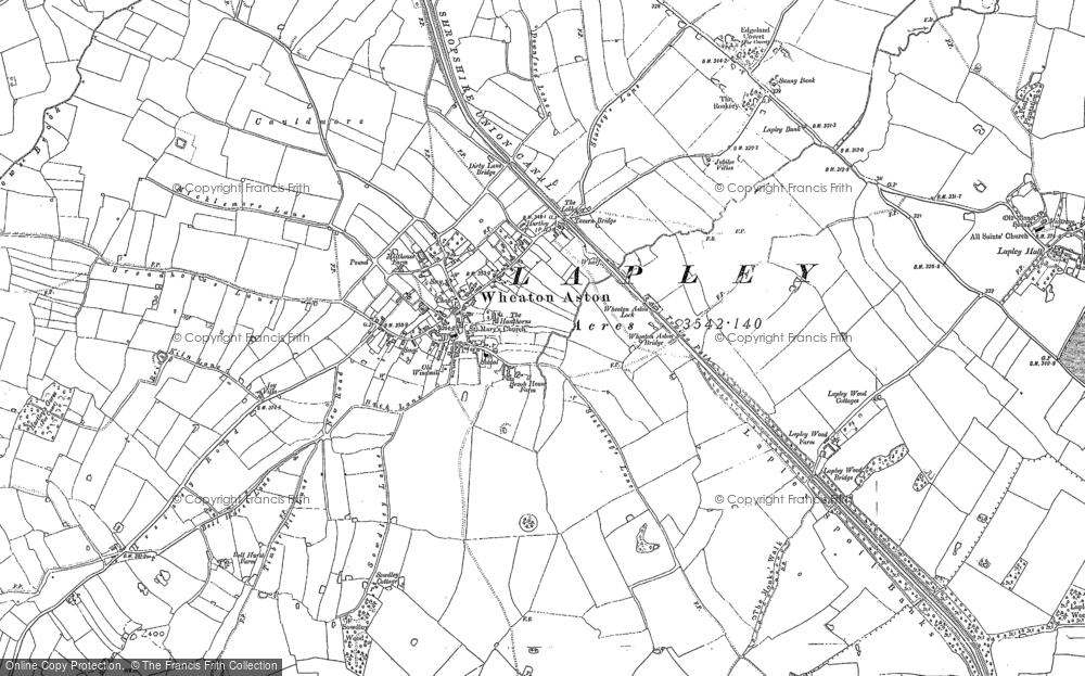 Map of Wheaton Aston, 1882 - 1900