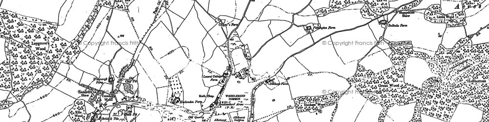 Old map of Wheeler End in 1897