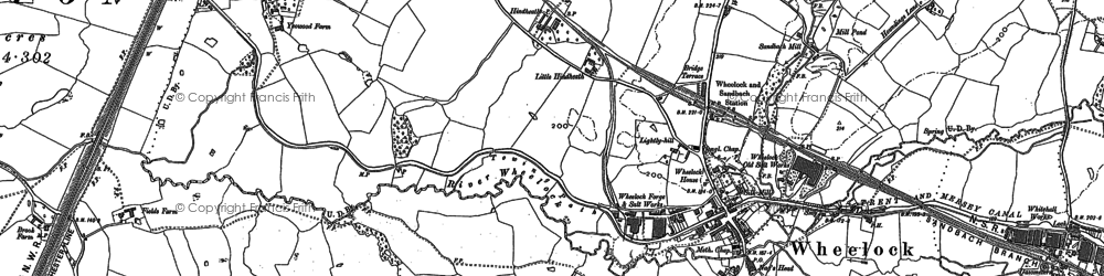 Old map of Wheelock in 1897