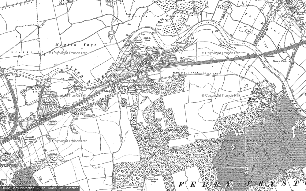 Old Map of Historic Map covering Airedale in 1890