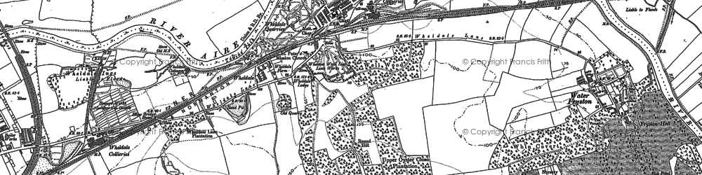 Old map of Airedale in 1890