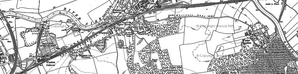 Old map of Wheldale in 1890