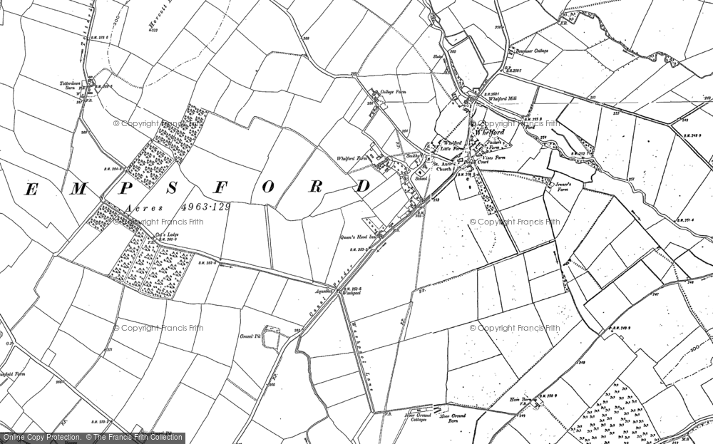 Old Map of Whelford, 1876 - 1910 in 1876