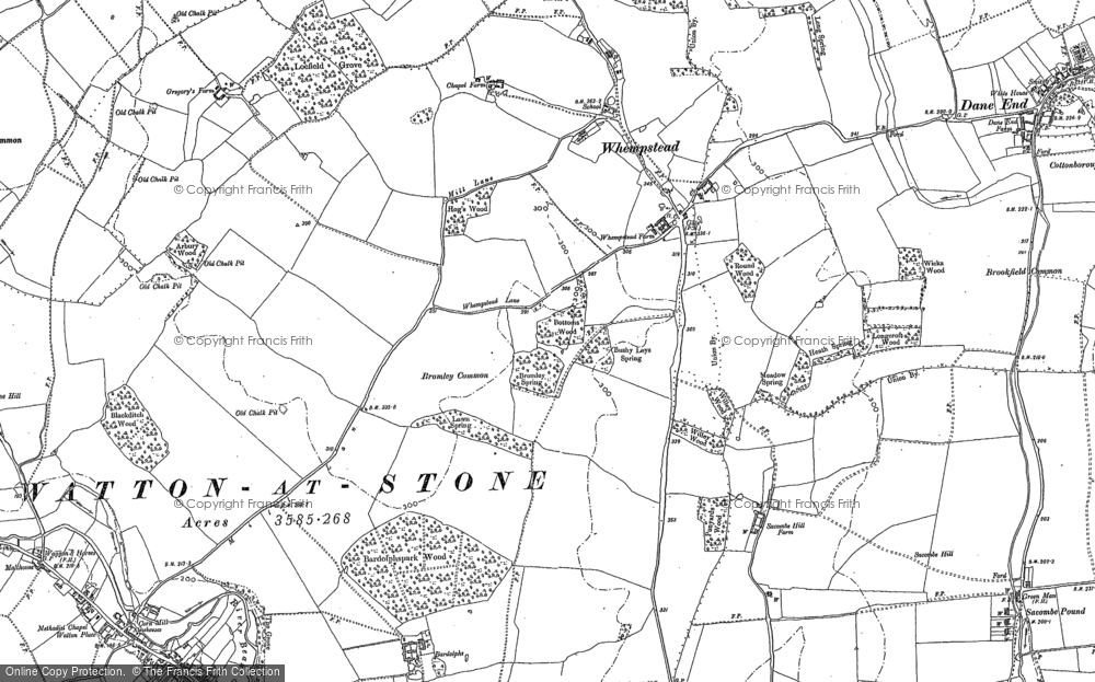 Old Map of Whempstead, 1897 in 1897