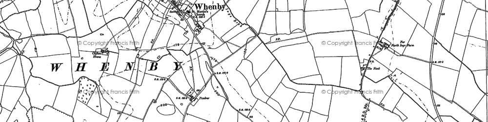 Old map of Whenby in 1889