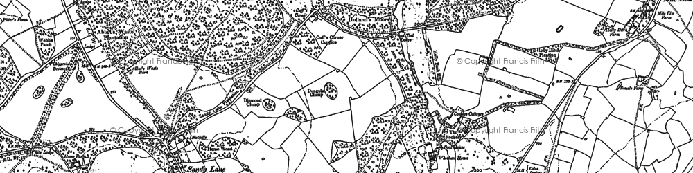 Old map of Whetham in 1899
