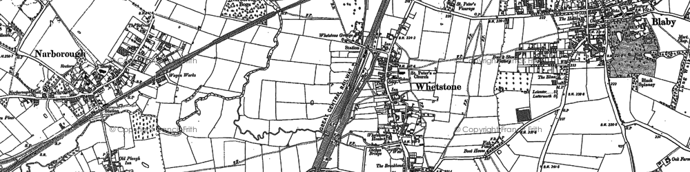 Old map of Whetstone in 1885