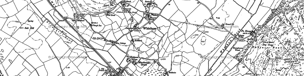 Old map of Whicham Hall in 1922