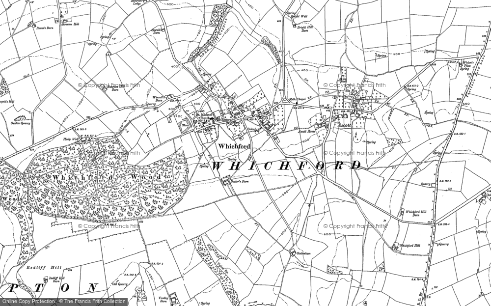 Old Map of Whichford, 1898 - 1904 in 1898