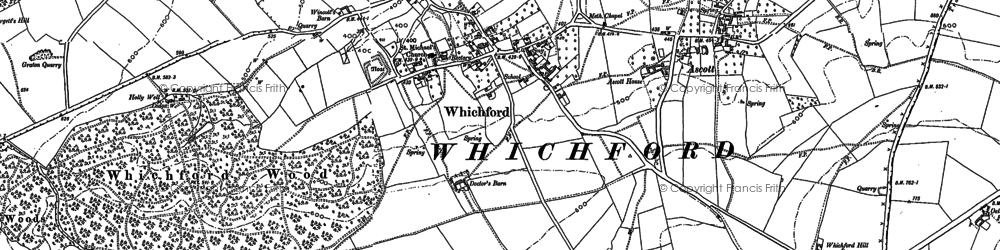 Old map of Whichford in 1898