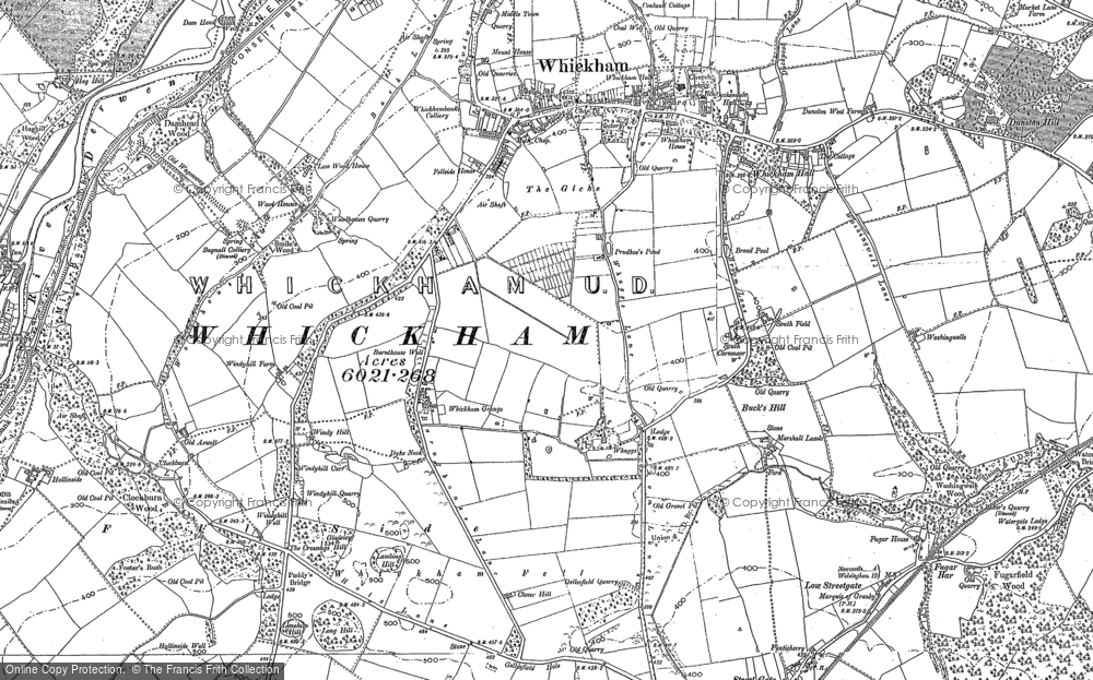 Map of Whickham, 1895