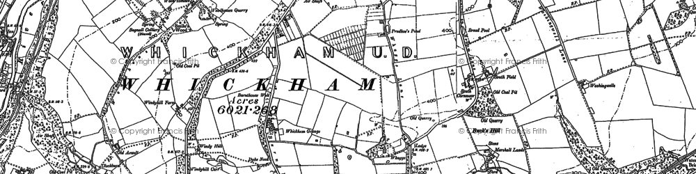 Old map of Whickham in 1895
