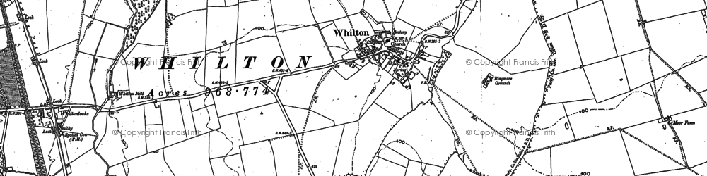 Old map of Whilton in 1883