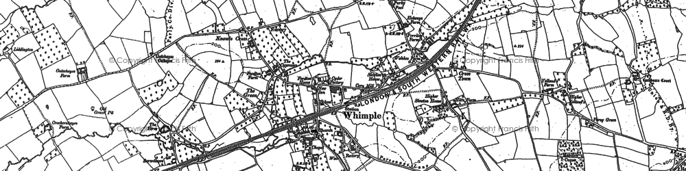 Old map of Whimple in 1887