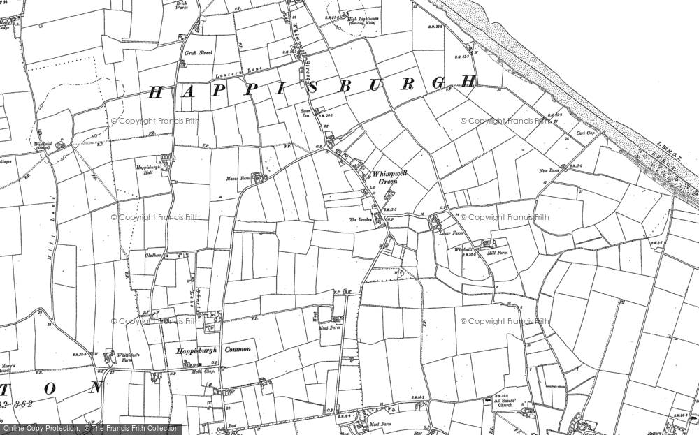 Old Map of Whimpwell Green, 1885 - 1905 in 1885