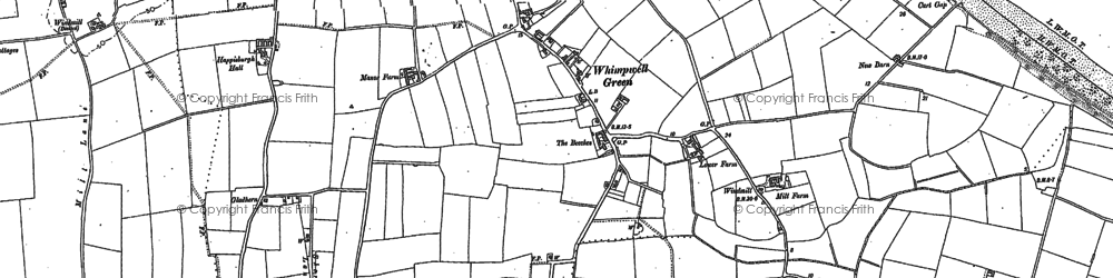 Old map of Whimpwell Green in 1885