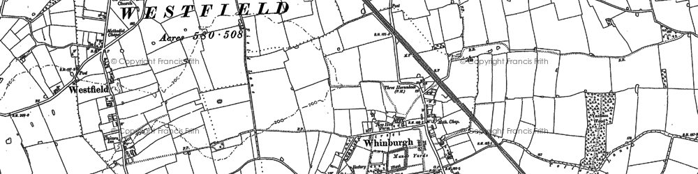 Old map of Whinburgh in 1882