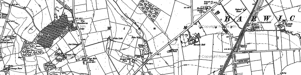 Old map of Arthursdale in 1891
