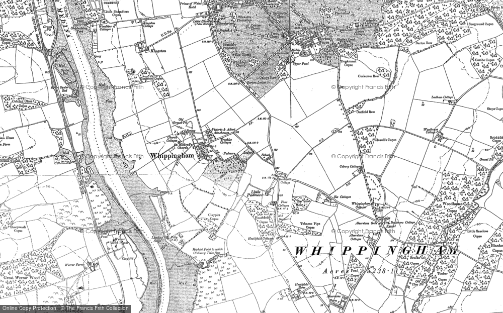 Old Map of Whippingham, 1896 in 1896