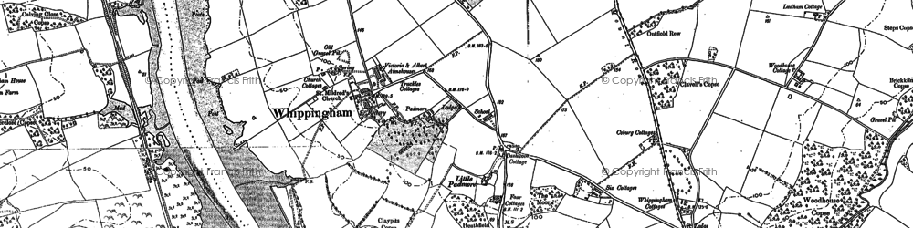 Old map of Whippingham in 1896