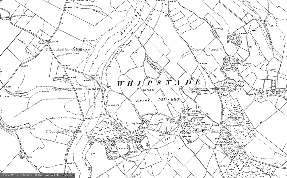 Old Map of Whipsnade, 1922 in 1922