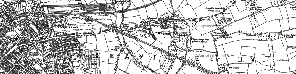 Old map of Whipton in 1887