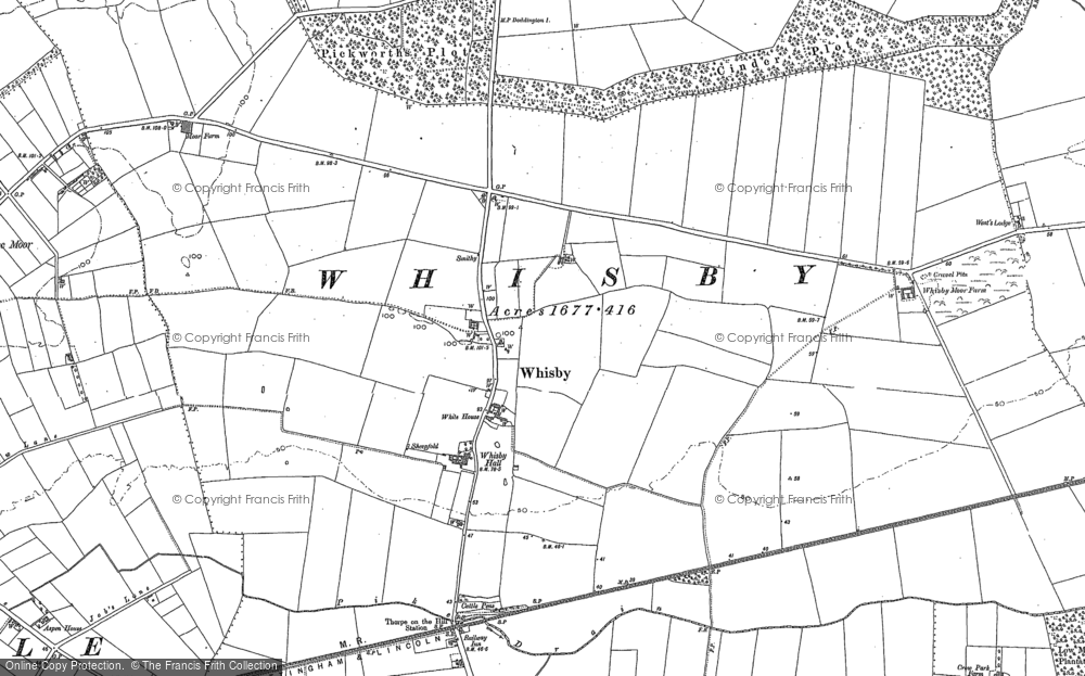Old Map of Whisby, 1904 in 1904