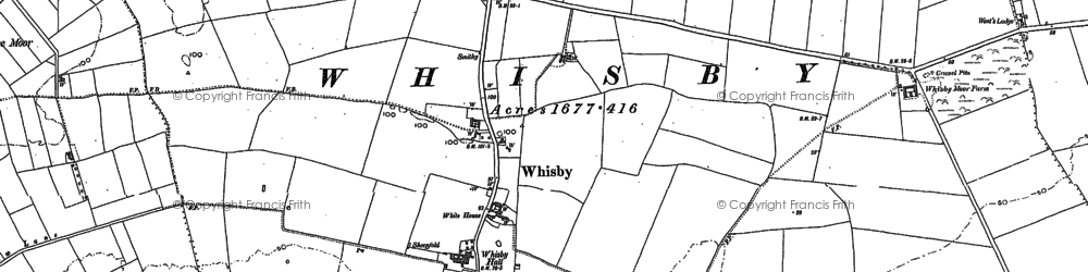 Old map of Whisby in 1904