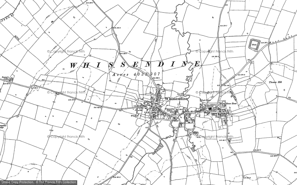 Map of Whissendine, 1884 - 1902