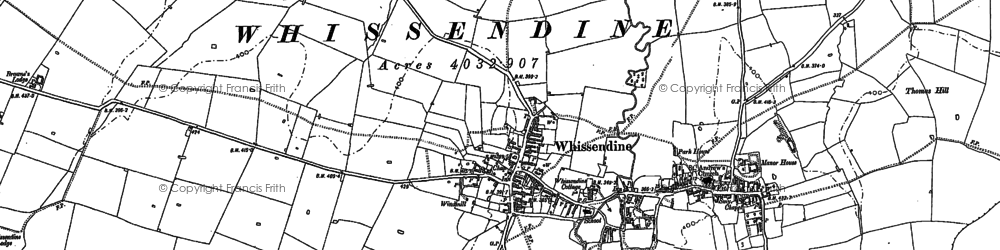 Old map of Whissendine in 1884
