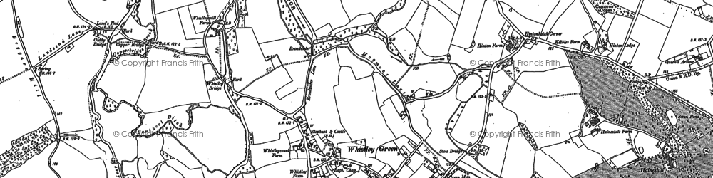Old map of Whistley Green in 1898