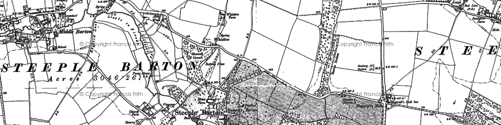 Old map of Whistlow in 1898