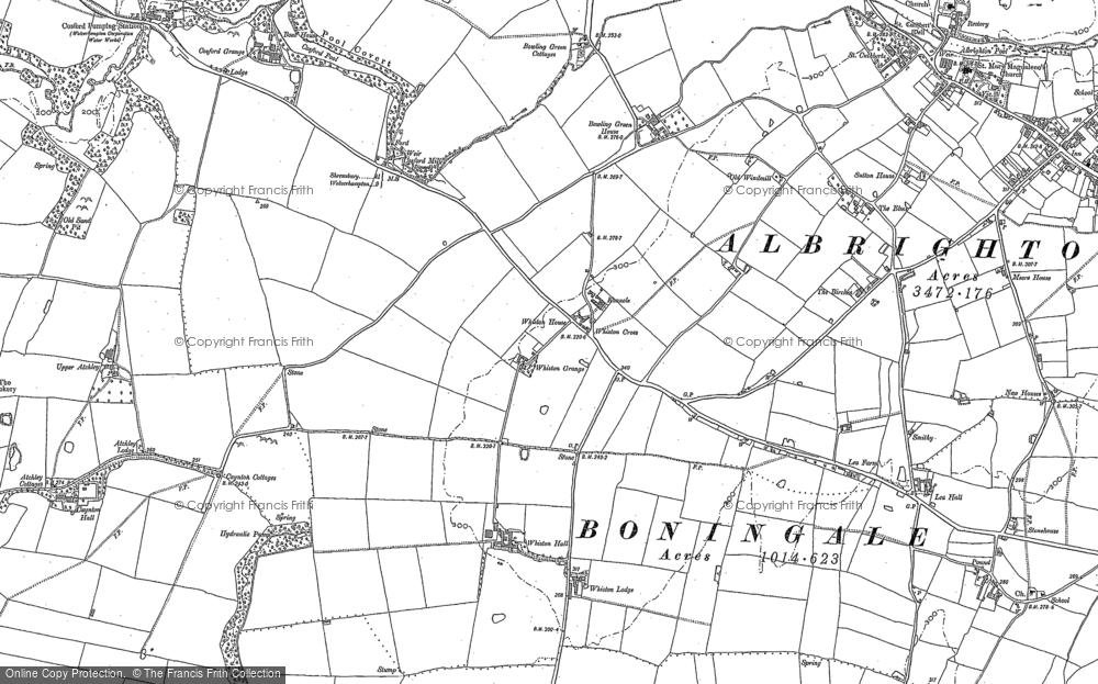 Old Map of Historic Map covering Atchley Ho in 1881