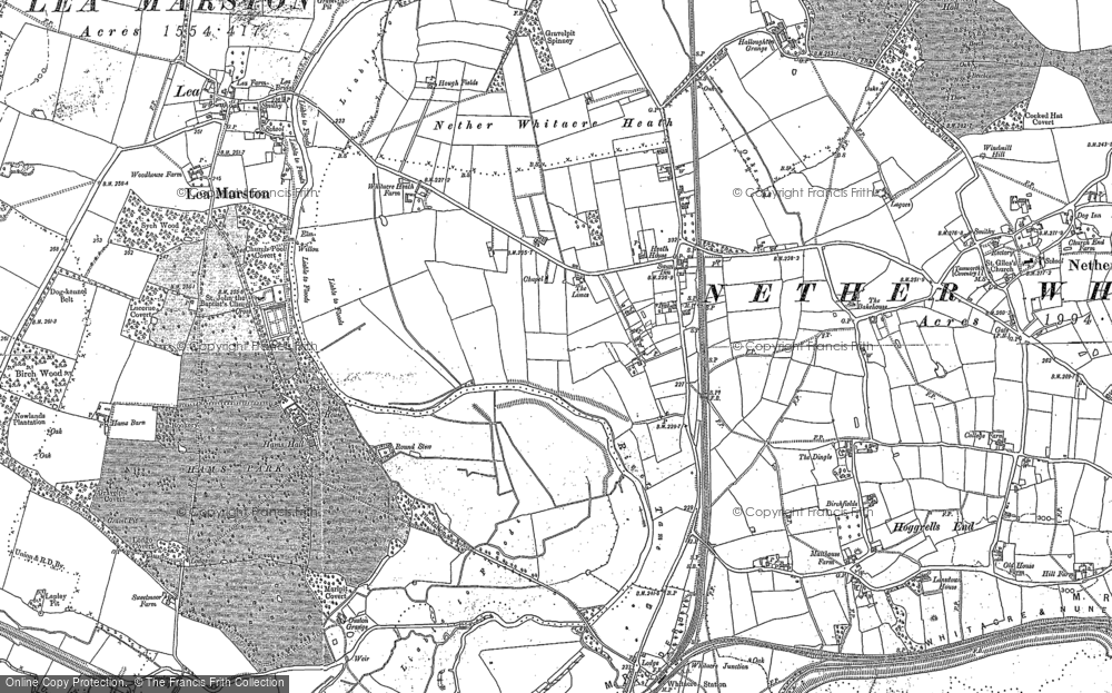 Old Map of Whitacre Heath, 1886 in 1886