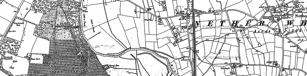 Old map of Whitacre Heath in 1886
