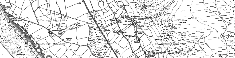 Old map of Whitbeck in 1922