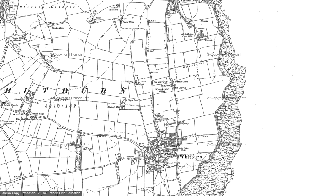 Map of Whitburn, 1913 - 1920