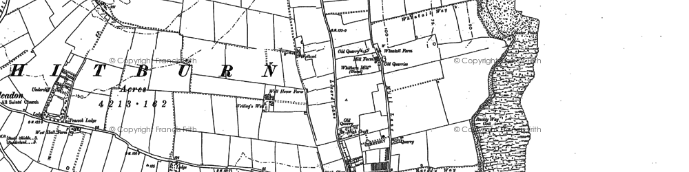 Old map of Whitburn in 1913