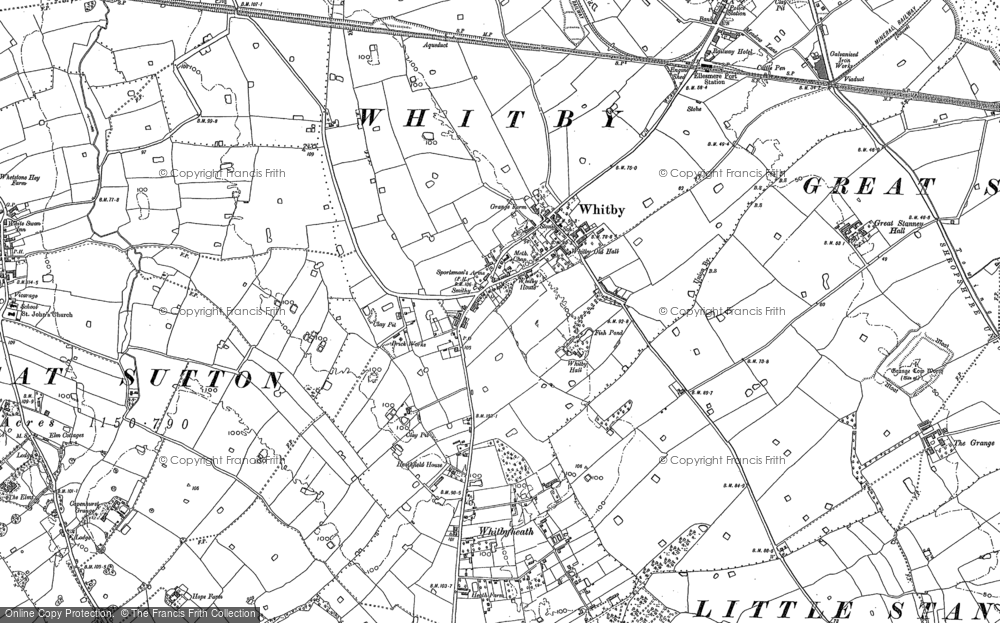 Old Map of Historic Map covering Whitbyheath in 1897