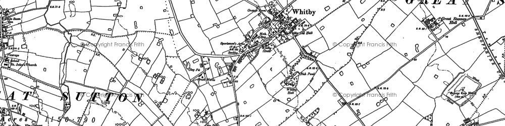 Old map of Whitbyheath in 1897
