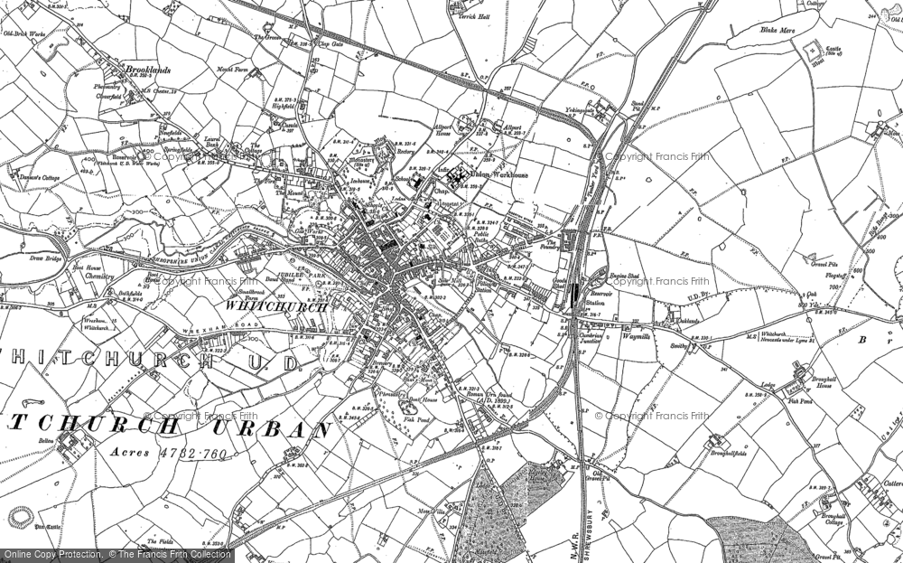 Map of Whitchurch, 1879 - 1899
