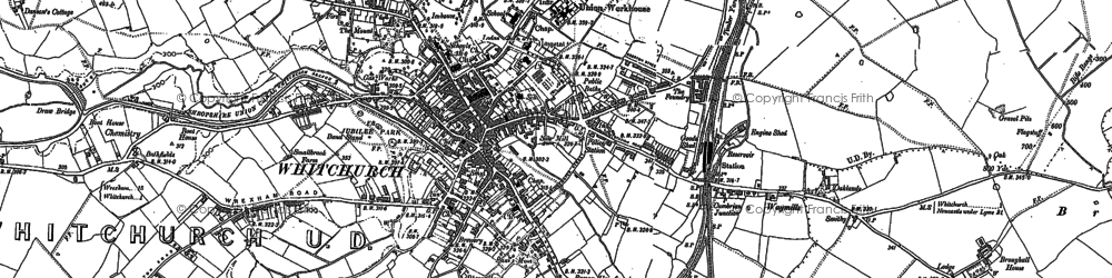 Old map of Whitchurch in 1879