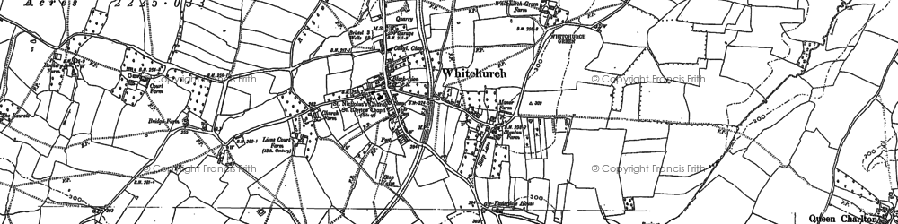 Old map of Whitchurch in 1883