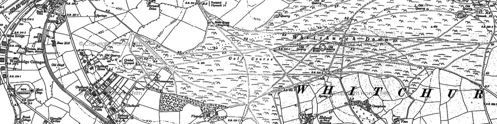 Old map of Whitchurch Down in 1883