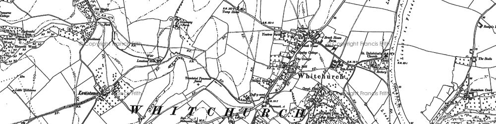 Old map of Whitchurch in 1887