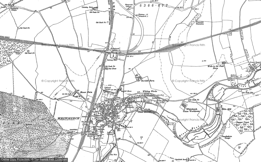 Map of Whitchurch, 1894