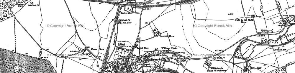 Old map of Whitchurch in 1894