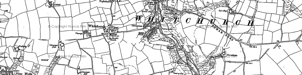 Old map of Whitchurch in 1906